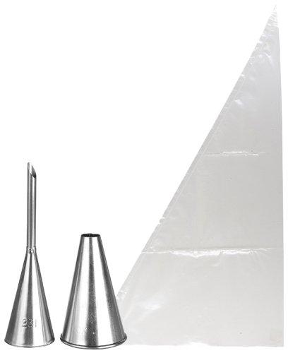 Ibili 778800 Kit à petit-choux / Éclairs (2 douilles + 5 poches jetables)