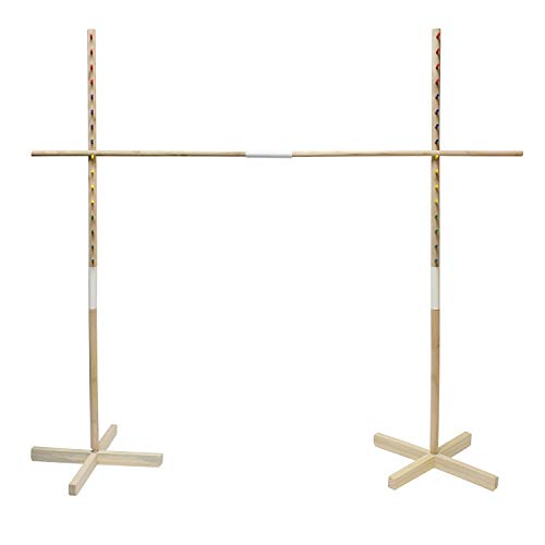 Get Out! Wooden Limbo Game for Kids Adults, 5ft Tall Limbo Stick Set Limbo Kit, Limbo Pole and Base for Luau Party Games