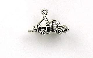 Pendant Jewelry Making/Chain Pendant/Bracelet Pendant Sterling Silver 3-D Tow Truck Charm