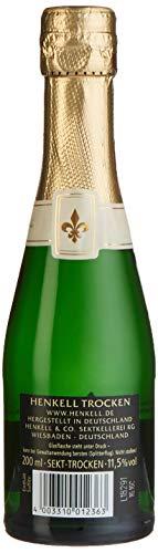 Henkell Feiner Sekt, Trocken, 11,50% Alkohol (12 x 0,2l Flaschen) – Chardonnay-Cuvée in handlicher Piccoloflasche - 3
