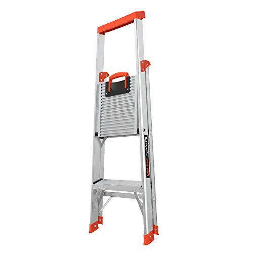 Little Giant Ladders, Flip-N-Lite, 4-Foot, Stepladder, Aluminum, Type 1A, 300 lbs Rated (15272-001)
