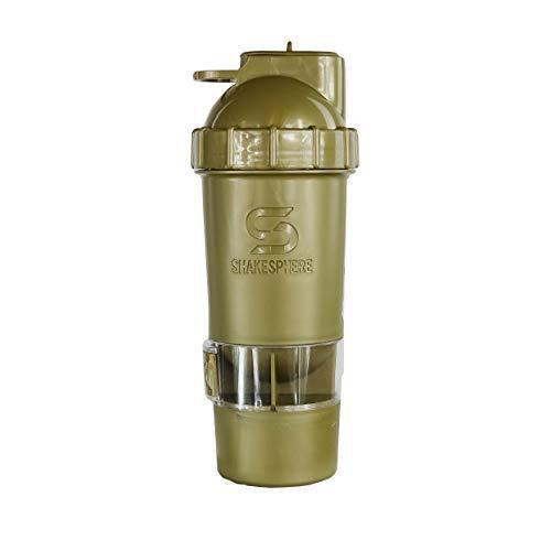 ShakeSphere Protein-Shaker-Flaschen mit Aufbewahrungsfach für Ergänzungen und Snacks. 700ml Kapazität. Kein Mixer Ball oder Mesh erforderlich Drachenhöhle gesehen. (Gold)