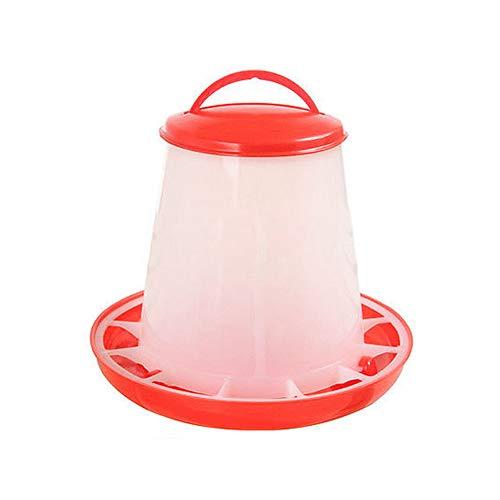 guohanfsh Durable Plastic Chicken Quail Poultry Chick Hen Drinker Food Feeder Waterer Bucket