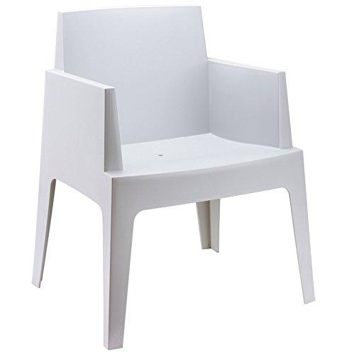 Alterego - Chaise design 'PLEMO' grise claire en matière plastique