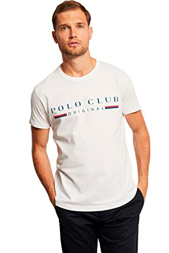 Camiseta Blanca de Manga Corta para Hombre - Diseño Original