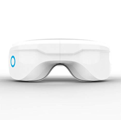 Gafas de masaje eléctrico con calefacción, compresión de aire, funciones de vibración y de la música, masajeador templo puede aliviar la sequedad ocular, fatiga ocular, mejorar la circulación sanguíne
