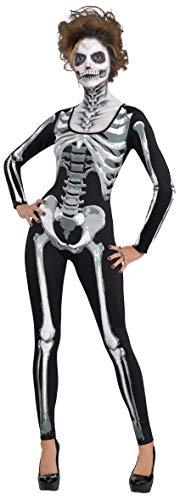 amscan- Disfraz de Esqueleto para Gatos, 1 Unidad, Color Negro, Mujeres: 12-14 (844971)