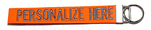Northern Safari Custom Name Tape Material Luggage and Crate Tags Over 50 Fabrics. Made in The U.S.A. Neon Orange, 6 Inch Text Only