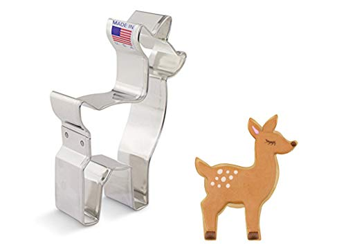 Ann Clark Cookie Cutters Baby Deer / Fawn Cookie Cutter, 4.25