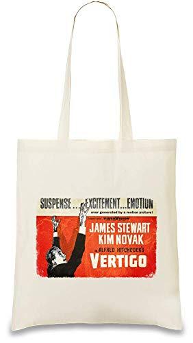 Design Things Schwindel Poster - Vertigo Poster Custom Printed Tote Bag| 100% Soft Cotton| Natural Color & Eco-Friendly| Unique, Re-Usable & Stylish Handbag For Every Day Use| Custom Shoulder Bags By