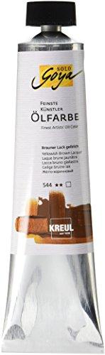 Kreul 31544 - Solo Goya Feinste Künstlerölfarbe, buttrig vermalbar, cremige Konsistenz, glänzend auftrocknend, hervorragende Leuchtkraft, 255 ml Tube, brauner lack gelblich