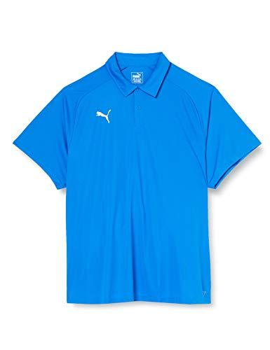 Puma Herren Liga Sideline Polo Poloshirt, Electric Blue Lemonade White, XL