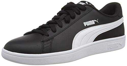 PUMA Unisex Adult Smash v2 L Sneaker, Black White, 40 EU