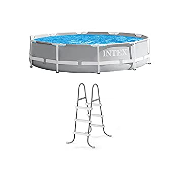 Intex 10  x 30  Above Ground Swimming Pool w/ 330 GPH Filter Pump & Pool Ladder