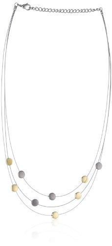 Boccia Damen-Collier Stahl Silikon 9 Scheiben Titan Bico 0852-02