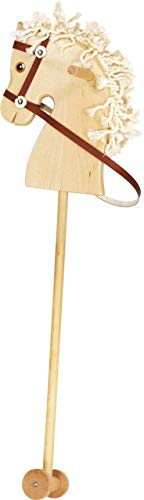Unbekannt Holzsteckenpferd / mit Mähne, Haltegriffen, Laufrollen und Halfter mit Zügel Länge: 97 cm / Gewicht: 650 g