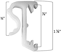 1 Inch Valance Clips for Window Blinds - 20 Pack