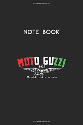 Notebook: Moto Guzzi Wings Motorcycle Biker Classic Retro VintageLined Pages Notebook White Paper Blank Journal with Black Cover Size 6in x 9in x 115 pages for Kids or Men and Women Mechanics