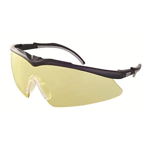 MSA Safety TecTor Opirock Ballistische Schutzbrille UV400 + Mikrofaserbeutel und Kordel, Farbe: Amber