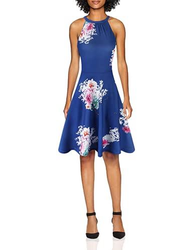 OUGES Women's Halter Neck Floral Summer Casual Sundress(Floral-09,S)