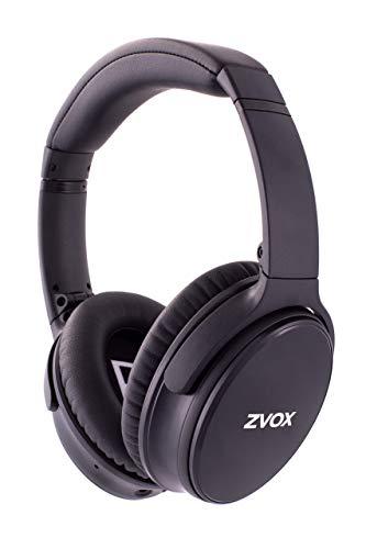 ZVOX Dialogue Clarifying Noise Cancelling Bluetooth Headphones - AccuVoice AV50 - Black