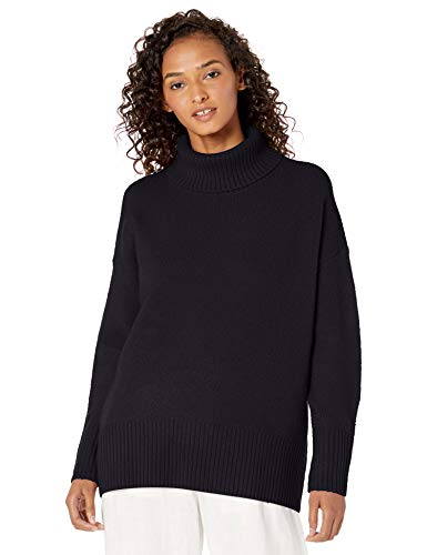 Daily Ritual Cozy Boucle Turtleneck Sweater pullover-sweaters, Black, US S (EU S - M)