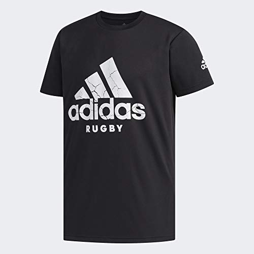 adidas Herren Rugby Logo T-Shirt, Black, XL
