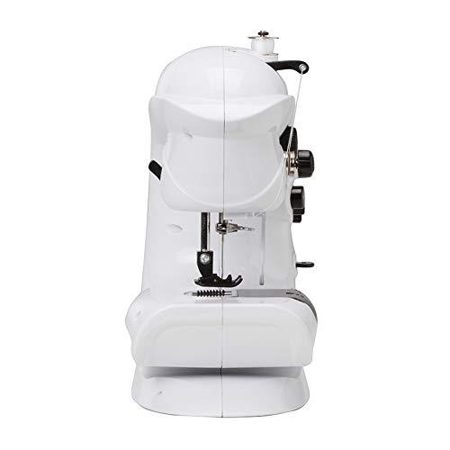 No logo Máquinas de Coser Mini máquina de Coser eléctrica con 7 Puntos de sutura Ajustable y Ancho de Longitud Ajustable de Mano Máquina de Coser ZHQHYQHHX