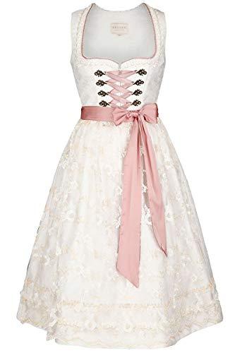 Krüger Damen Collection Hochzeits-Dirndl Creme rosa, 239-CREME/ROSA, 32
