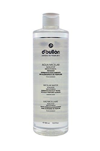 D´Bullón Agua Micelar para Pieles Sensibles. Desmaquilla y limpia. Limpiador facial sin alergenos. Desmaquillante - 400 ml