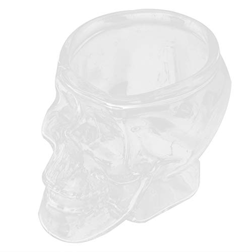 74Ml/2.5Oz Glass Cup Innovative Transparent Skull‑Head Cup Glass Ware Drinkware for Wine Cocktail