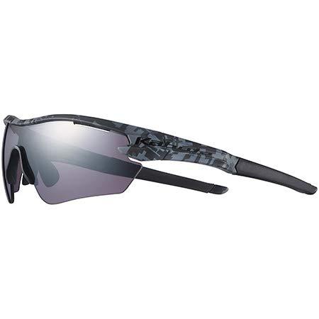 オージーケーカブト(OGK KABUTO) 自転車 スポーツサングラス/アイウエア 101 (レンズ2セット) マットブラックカモ/撥水スペクトルモーブミラー サイズ:M/L