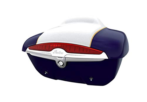 Best Deals! Genuine Indian Motorcycle Quick Release Trunk - Blue Sapphire over Star Silver 2884046-1...