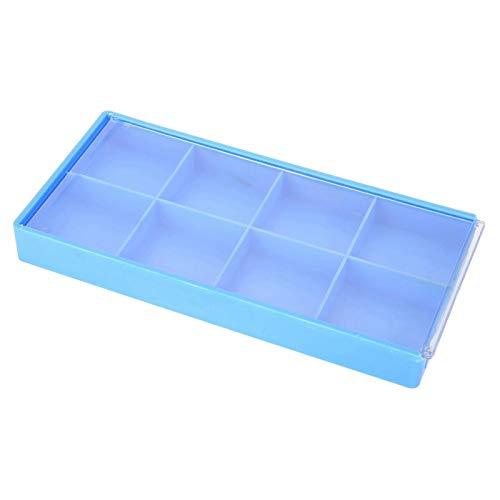 Caja de almacenamiento azul Caja de almacenamiento Bonita herramienta para joyeros o relojeros para almacenar piezas de relojes