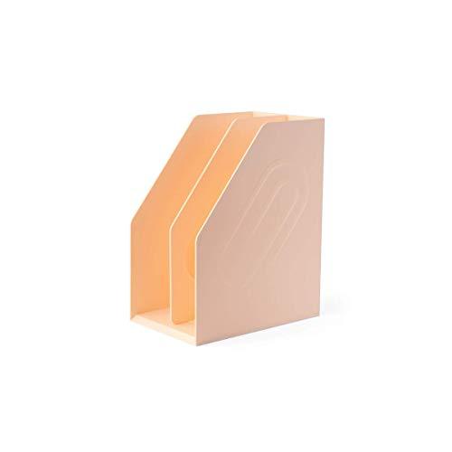 Miwaimao Estante de almacenamiento de archivos Plástico Compartimentos múltiples Vertical Gran capacidad Desorden Empresa Carpetas para el hogar Sala de estar Estantería Artículos diversos Caja de arc