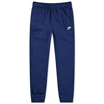 Nike NSW Fleece Club Joggers Men s Fleece Pants  Obsidian Large  Midnight Navy/White