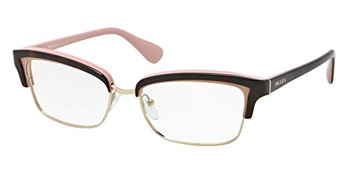 PRADA Montura gafas de ver PR 21PV MAL1O1 Marrón habana/Rosa 53MM