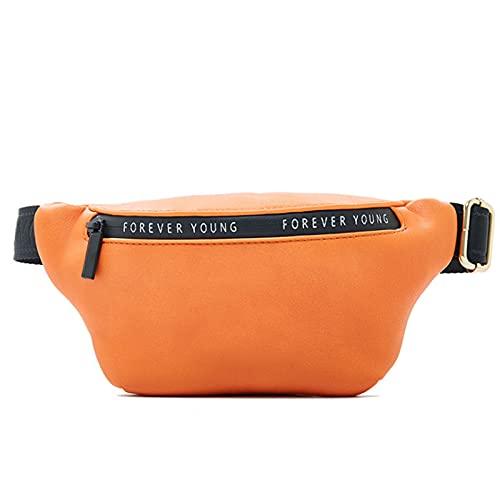 Nuevas Mujeres FANDY Pack Multi-FUNTE CINA Y Bolsa DE AMPCHEST Bolsa DE LADRES Bolsa Bum Bum POCHETE Sac Banana Femenino Paquete de Cintura (Color : Orange)