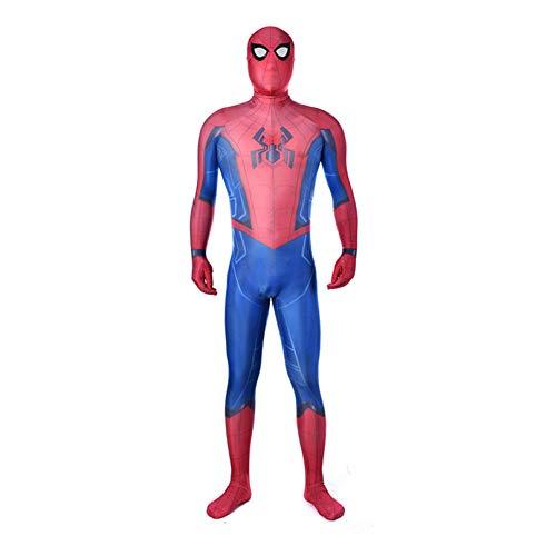 MODRYER Spider-man Homecoming Costume Halloween Cosplay Tights Unisex Girls Boys Fancy Dress Outfit Superhero Onesies Lycra Spandex Zentai,Kids/L 120~130cm