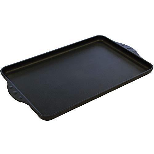 Eurolux Teppanyaki Grill-Platte Induktion 43 x 28 cm - große rechteckige Teppanyakiplatte & glatter Oberfläche - Made in Germany