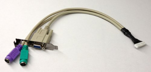 HiCuCo VGA Adapter/VGA Anschlusskabel für Acer Aspire easyStore H340, H341 und H342, Lenovo ideacentre D400