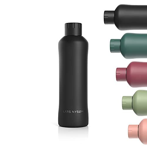 LARS NYSØM Trinkflasche Edelstahl 750ml   BPA-freie Isolierflasche 0.75 Liter   Auslaufsichere Wasserflasche für Sport, Fahrrad, Hund, Baby, Kinder   Thermosflasche