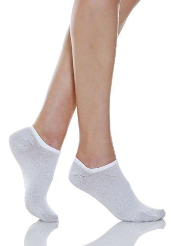 Relaxsan 550S (Weiß, Gr.1) Sneakersocken Diabetes mit X-Static Silberfasern