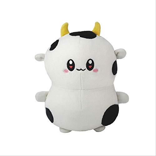 N\A Plüsch Kuh Spielzeug Nettes Vieh Plüsch Kuscheltiere Vieh Weiche Puppe Kinderspielzeug Geburtstagsgeschenk Für Kinder 32cm Weiß