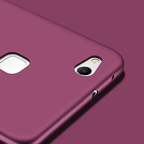 X-level Huawei P10 Lite Hülle, [Guadian Serie] Soft Flex Silikon Premium TPU Echtes Telefongefühl Handyhülle Schutzhülle für Huawei P10 Lite Case Cover [Weinrot] - 4