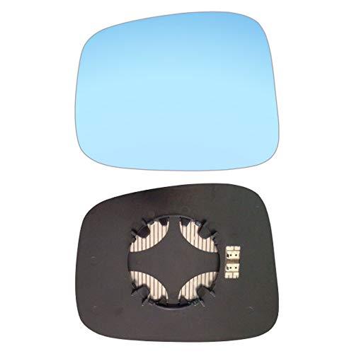 AM-OLFA98-LCBH - Espejo retrovisor izquierdo con placa y calefacción, color azul