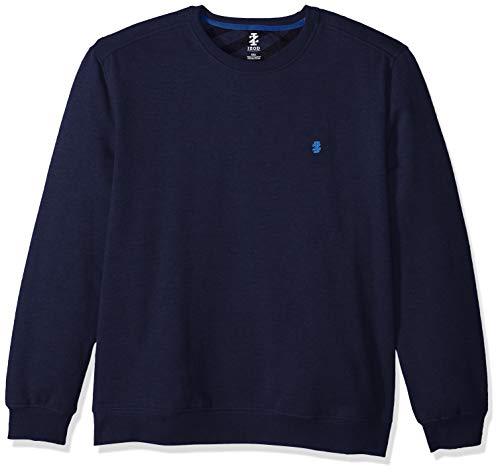 IZOD Men's Advantage Performance Crewneck Fleece Sweatshirt, Peacoat, Large