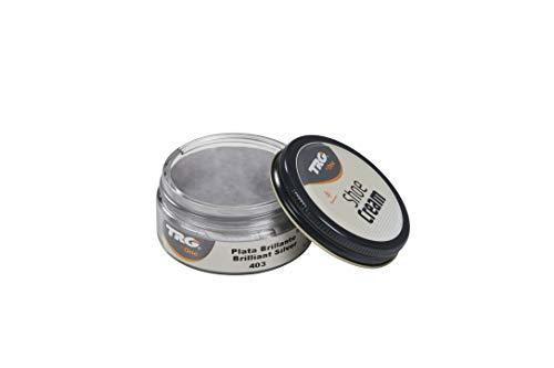 TRG Thoe One 403 - Crema para calzado y complementos de piel y piel sintética 50 ml, Plateado (403 Brilliant Silver)
