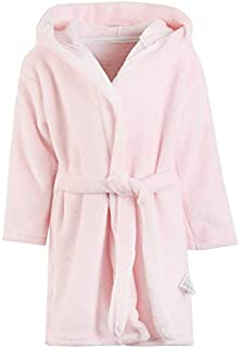 Image of Adorable Light Pink Soft Hooded Bath Robe for Girls and Toddlers - Ages 1-8