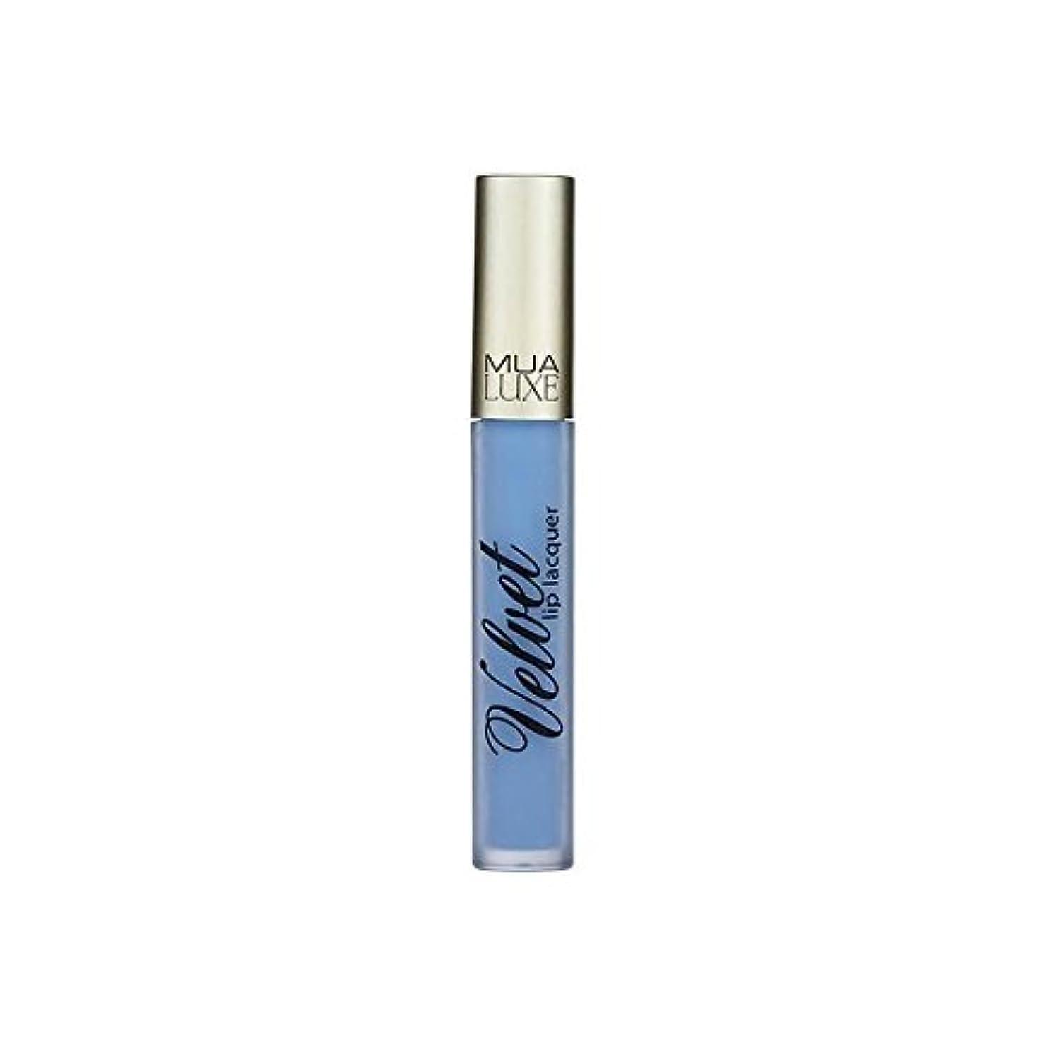 無駄にシャープ結果としてMUA Luxe Velvet Lip Lacquer Iced 012 - 012アイスデラックスベルベットのリップラッカー [並行輸入品]